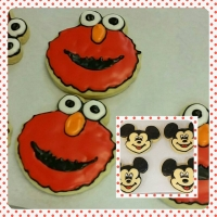 Cookie Monster & Mickey Mouse Cookies