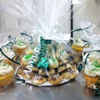 Saint Patrick's Day Cookie Tray and Cupcakes