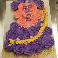 Happy Birthday Jillian Cupcake Cake