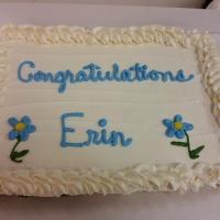 Congratulations Erin Cupcake Cake