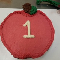 Red Apple #1 Cupcake Cake