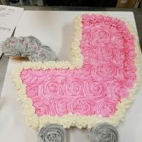 Baby Stroller Girl Cupcake Cake
