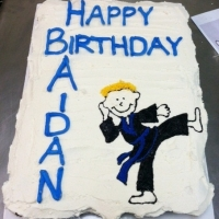 Happy Birthday Aidan Karate Kid Cupcake Cake