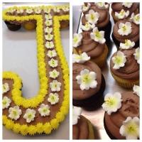 Baby Sprinkle Cupcake Cake Letter J
