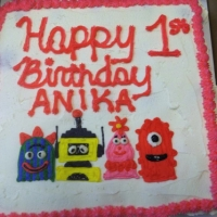 Happy 1st Birthday Anika Cupcake Cake
