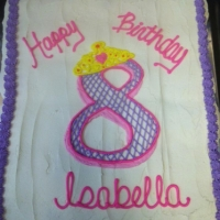 Happy 8th Birthday Isabella Cupcake Cake