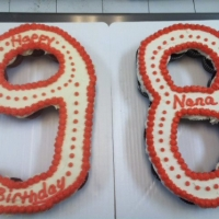 Happy 98th Birthday Nana Cupcake Cake