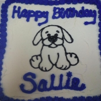 Happy Birthday Sallie Cupcake Cake