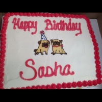 Happy Birthday Sasha Cupcake Cake