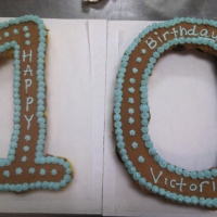 10th Birthday Cupcake Cake