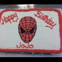 Happy Birthday JoJo Spiderman Cupcake Cake