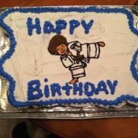 Karate Kid Cupcake Cake
