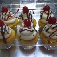 Ice Cream Sundae with Cherry on Top Cupcakes