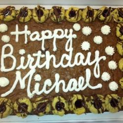 Happy Birthday MIchael Brownie Cake