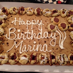 Happy Birthday Marina Chocolate Chip Cookie Cake