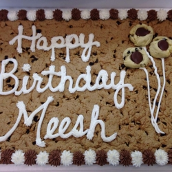 Happy Birthday Meesh Chocolate Chip Cookie Cake