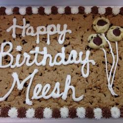 Happy Birthday Meesh Chocolate Chip Cookie Cake
