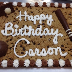 Happy Birthday Carson Chocolate Chip Cookie Cake