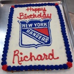 Happy Birthday Richard New York Rangers Chocolate Chip Cookie Cake