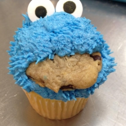 Cookie Monster Cupcake & Cookie