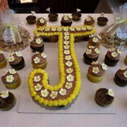 J Cupcake Cake