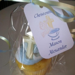 Christening Cupcake Favors