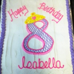 Happy Birthday Isabella Cupcake Cake
