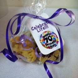 Happy 70th Birthday Cookie Favors