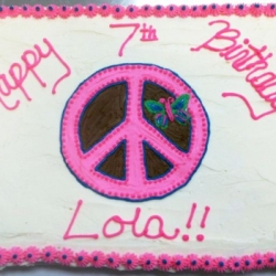 Happy Birthday Lola Cupcake Cake