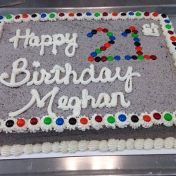 Happy Birthday Meghan Half Sheet Cake