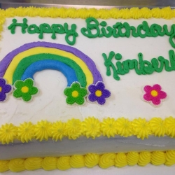 Happy Birthday Kimberly Quarter Sheet Cake