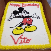 1402 Happy Birthday Vito - Mickey Mouse Half Sheet Cake