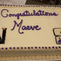 1524 Congratulations Maeve Sheet Cake