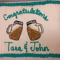 1525 Congratulations Tara & John Sheet Cake