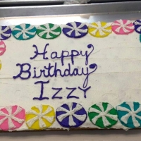 1532 Happy Birthday Izzy Sheet Cake