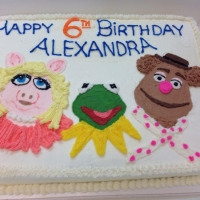 1529 Happy 6th Birthday Alexandra Sheet Cake