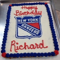 1407 Happy Birthday Richard New York Rangers Sheet Cake