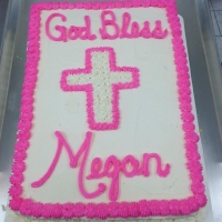 1406 God Bless Megan Sheet Cake