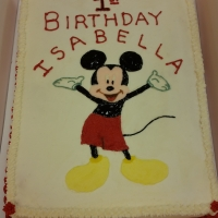 1531 Happy Birthday Isabella Minnie Mouse Sheet Cake
