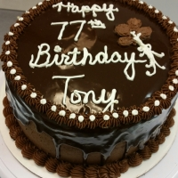 1544 Happy 77th Birthday Tony Round Cake