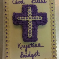 1541 God Bless Krystina Bridget Sheet Cake