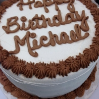 1422 Happy Birthday Michael 8 Inch Round Cake