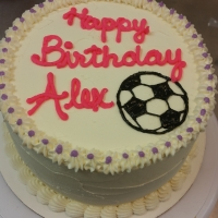 1536 Happy Birthday Alex Soccer Ball Cake