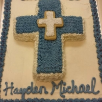 1516 God Bless Hayden Michael Sheet Cake