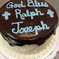 1515 God Bless Ralph Joseph Round Cake