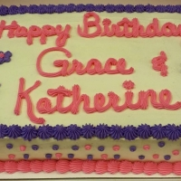 1519 Happy Birthday Grace and Katherine Sheet Cake
