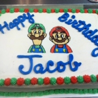 1533 Happy Birthday Jacob Birthday Sheet Cake