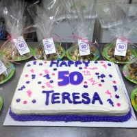 1528 Happy 50th Birthday Teresa Sheet Cake