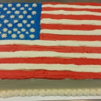 1510 American Flag Sheet Cake