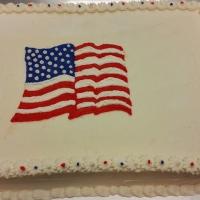 1537 American Flag Sheet Cake